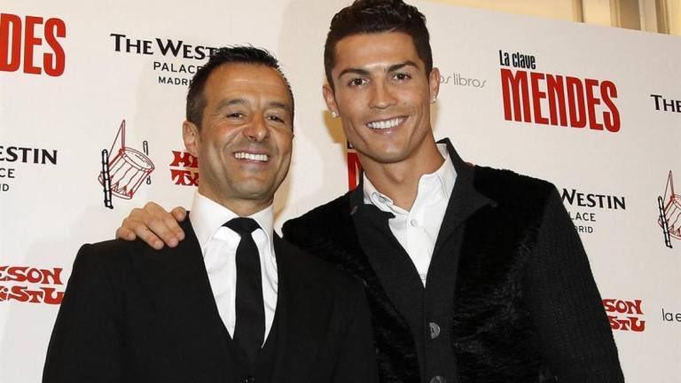 Cristiano Ronaldo and Jorge Mendes