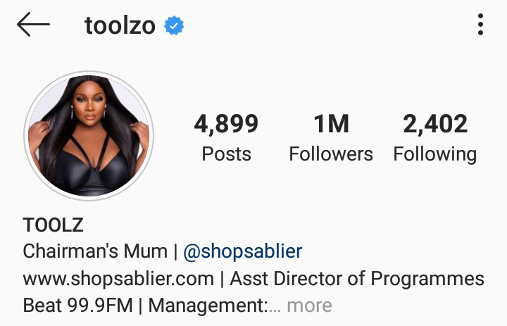 Toolz Removes Husband Name On Social Media