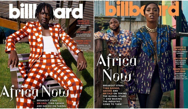 Davido, Tiwa Savage & Mr Eazi Covers Billboard Magazine