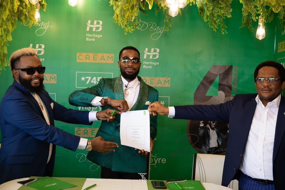 D'banj Signs Multimillionaire Endorsement with Heritage Bank 00