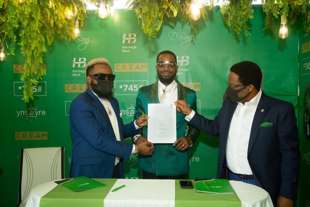 Dbanj Signs Multimillionaire Endorsement with Heritage Bank 01
