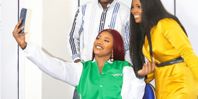 Tacha Signs Deal With Oppo Nigeria