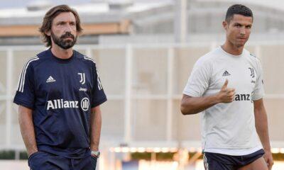 Pirlo and Cristiano Ronaldo