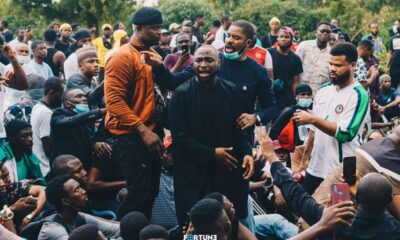 How Davido Presence Ease Tension At #EndSARS Protest In Abuja & Also Ensures Released of All Arrested Protesters