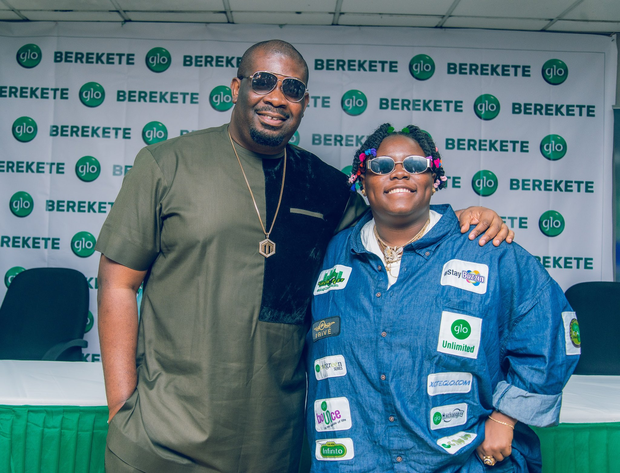 Don Jazzy and Teni Unveils As Globacom Brand Ambassador