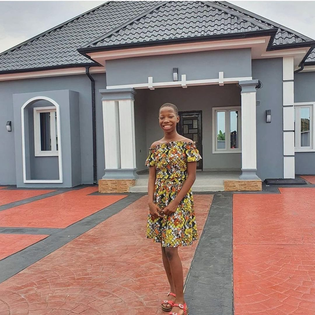 10years old Comedian Emmanuela Builds A Beautiful House For Her Mother As Christmas Gift