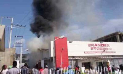 Grandex Supermarket On Fire