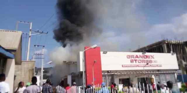 Grandex Supermarket On Fire
