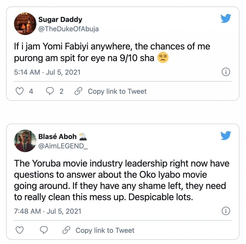 "Nigerians blast Yomi Fabiyi after releasing his new movie ""Oko Iyabo"" 00"